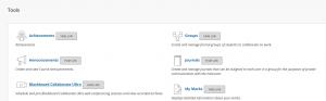 Selecting the Blackboard Collaborate Ultra Tool