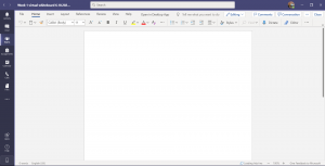 A blank document in Teams