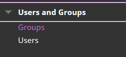 Selecting Users and Groups>Groups