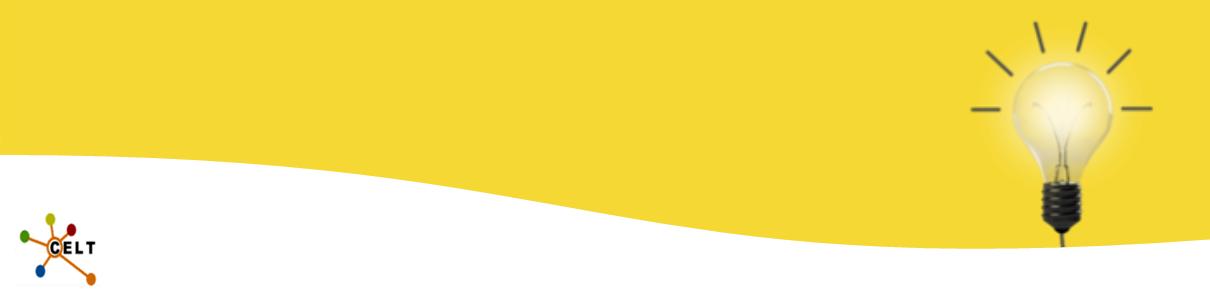 CELT logo and lightbulb