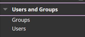 Accessing the Groups menu in Blackboard