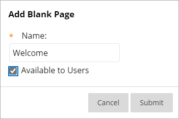 Naming the new Blank Page