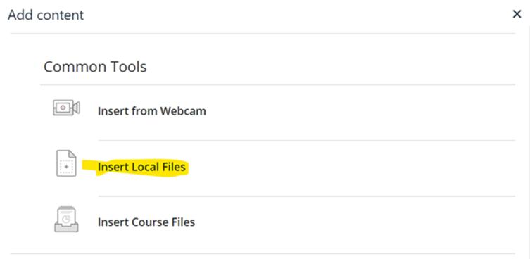insert local file option