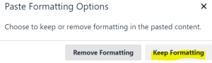 keep formatting